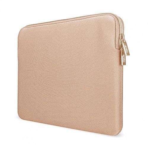 Artwizz Neoprene Sleeve Tasche designed für [MacBook 12] - Laptop Schutzhülle mit Reißverschluss, Webpelz, extra Schutzrand - Gold - 12 Zoll