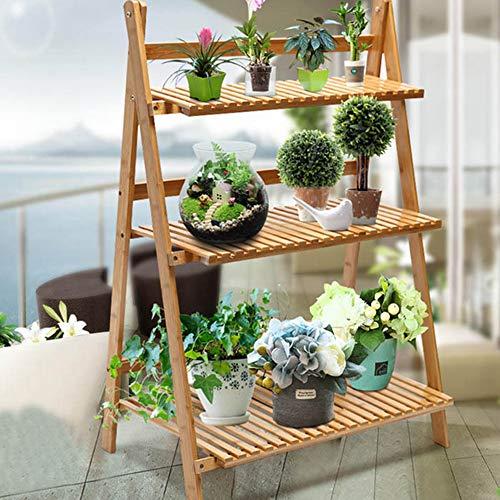 Etagère à Fleurs Stand De Fleurs Plante Etagère De Jardin échelle Fleur étagère En Bois étagère De Rangement En Bois Pots Fleur Présentoirs,50 * 38 * 93CM
