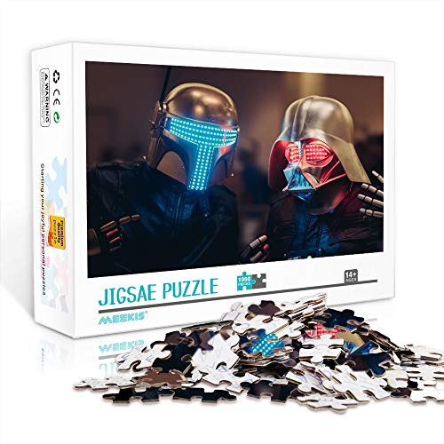 DUANGONGZI Rompecabezas de calidad de banda de música electrónica: Daft Punk impreso rompecabezas, 1000 piezas, ilustraciones, regalos para adultos, adolescentes, niños, familias, 75 x 50 cm