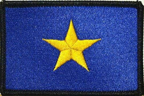 The Burnet Flag (1836-1839) Republic of Texas Flag Embroidered Patch Hook & Loop MC Biker Patriotic USA Shoulder Morale Emblem #03 (Black Border)