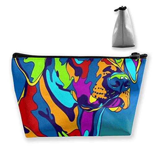 Multicolore Rhoden Ridgeback Dog Trapezoid Travel Cosmetic Storage Pouch Pochette