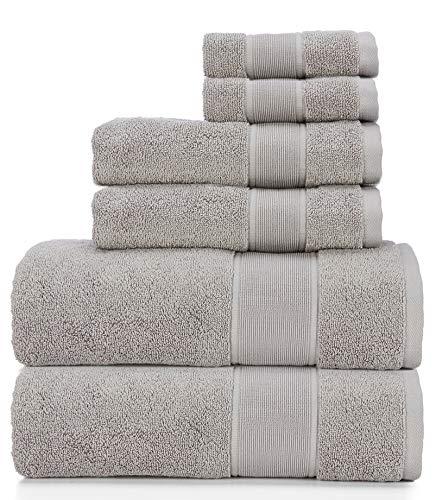 Ralph Lauren Sanders Handtuch-Set, 6-teilig, zinngrau, 2 Badetücher, 2 Handtücher, 2 Waschlappen