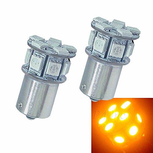 PA 2 x 13smd 5050 LED Auto arrière Signal ampoules Couleur ambre BAU15S 1156