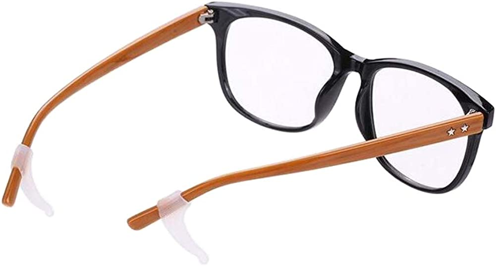 5Pairs Silica Gel Glasses anti-slip sets Eyeglasses Legs Stand Supports (Black)