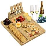 Grandma Shark Bambú Tabla de Quesos, Tabla para Cortar Frutas y Alimentos, Adecuado para picnics y Fiestas (Rectángulo)