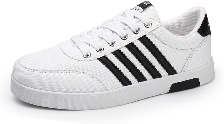 RENMEN Men's shoes Breathable Board shoes Canvas shoes Men's shoes 38-43, white