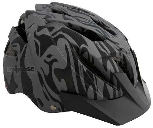Mongoose Youth Blackcomb Tattoo Bike Hardshell Helmet, 52cm-56cm, Multi Sport Design, Black/Gray