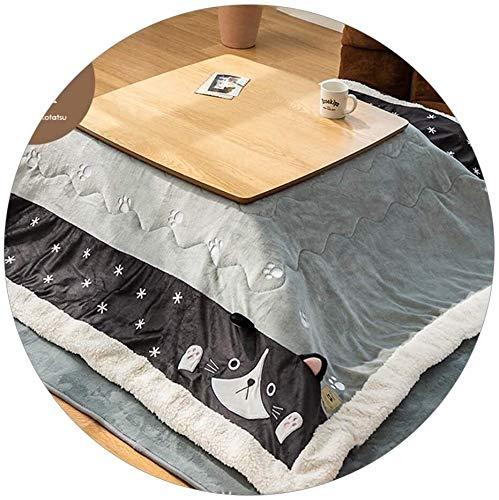 LAZNG Kotatsu Set Mesas de café Estilo japonés Kotatsu Mesa de calefacción Tatami Kang Table/Mesa de calefacción de calefacción de Mesa Baja y Cuarto de Cinco Piezas Regalos de Invierno