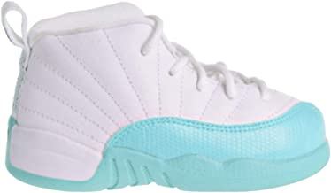 Jordan 12 Retro GT Toddler's Shoes White/Black/Light Aqua 819666-100