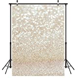 LYWYGG 5X7FT Taches d'or Photographie Toile de Fond Brillant Étincelle Sable Échelle Fond Vinyle Bokeh Professionnel Nouveau-Né Bébé Enfants Portrait Photo Studio Photo Booth Accessoires CP-124
