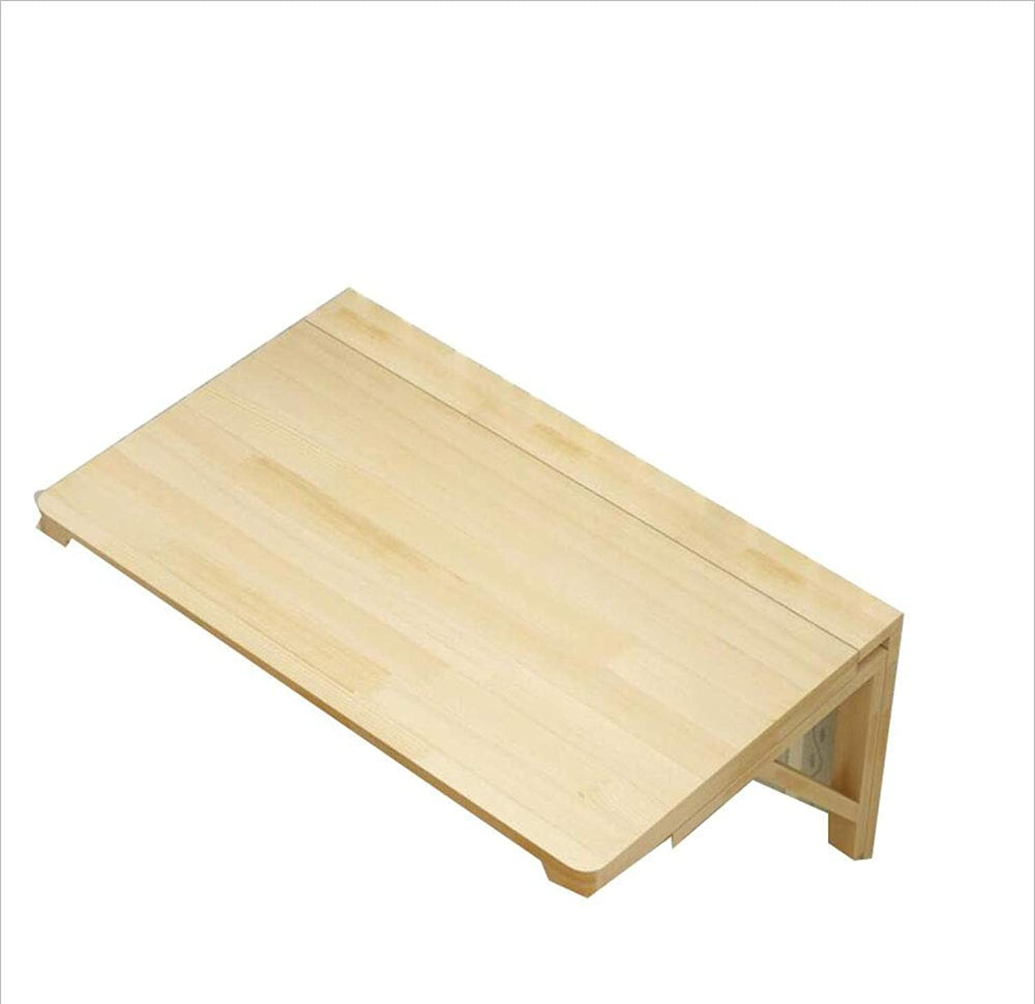 Wood Folding Table Wall-Mounted Dining Table Computer Table Study Table 100cmx50cm (Size   60  40)