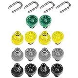 SPARES2GO Juego de chasis de boquilla compatible con Karcher K2 K3 K4 K5 K6 K7 T-Racer lavadora a presión (14 boquillas + 4 clips en U)