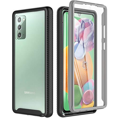 BESINPO - Carcasa para Samsung Galaxy Note 20, carcasa Note 20, antigolpes, transparente, 360 grados, protección completa [con protector de pantalla]