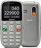 Gigaset GL390 Cellulare con Tastiera a Vista da Usare con Tasti e Numeri Grandi, Alto Volume Suonerie e Audio Forte, Tasto SOS, Vibrazione, Radio, Funzione Torcia, Grigio [Versione Italiana]