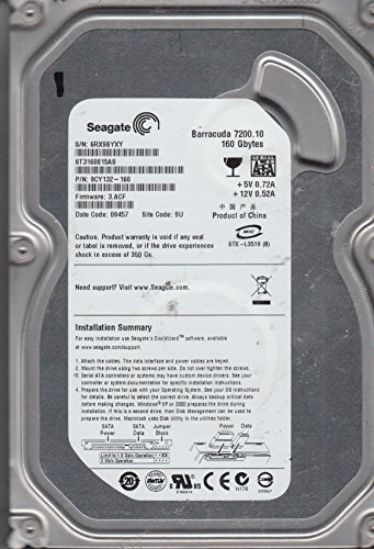 'ST3160815AS–SEAGATE Interne Festplatte 160GB (3.5, 7200RPM, SATA)