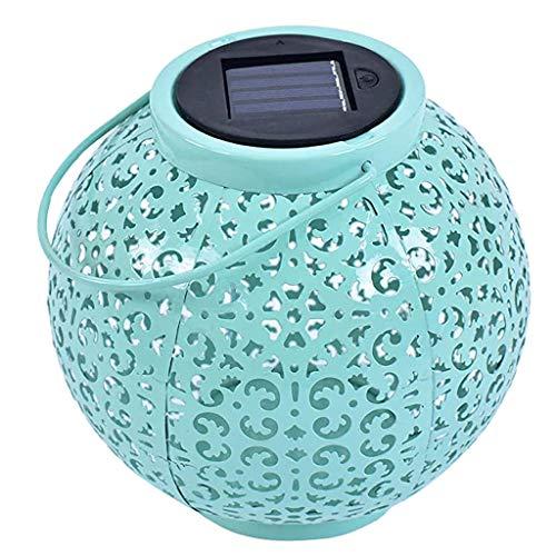 VWsiouev - Luces solares de jardín, de metal, resistente al agua, luces LED colgantes, decorativas para porche, jardín, patio, patio, camino