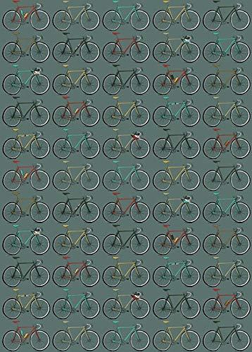 The Art File GW37 Geschenkpapier, Motiv: Fahrräder, 4 Bögen