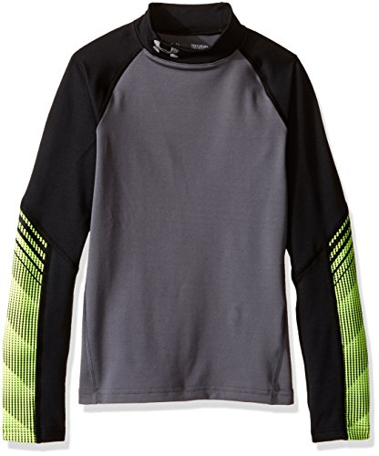 Under Armour Armour Up Cg Mock-Gph/Blk/Gph T-Shirt de Protection Thermique Garçon, Graphite, FR : XL (Taille Fabricant : YXL)