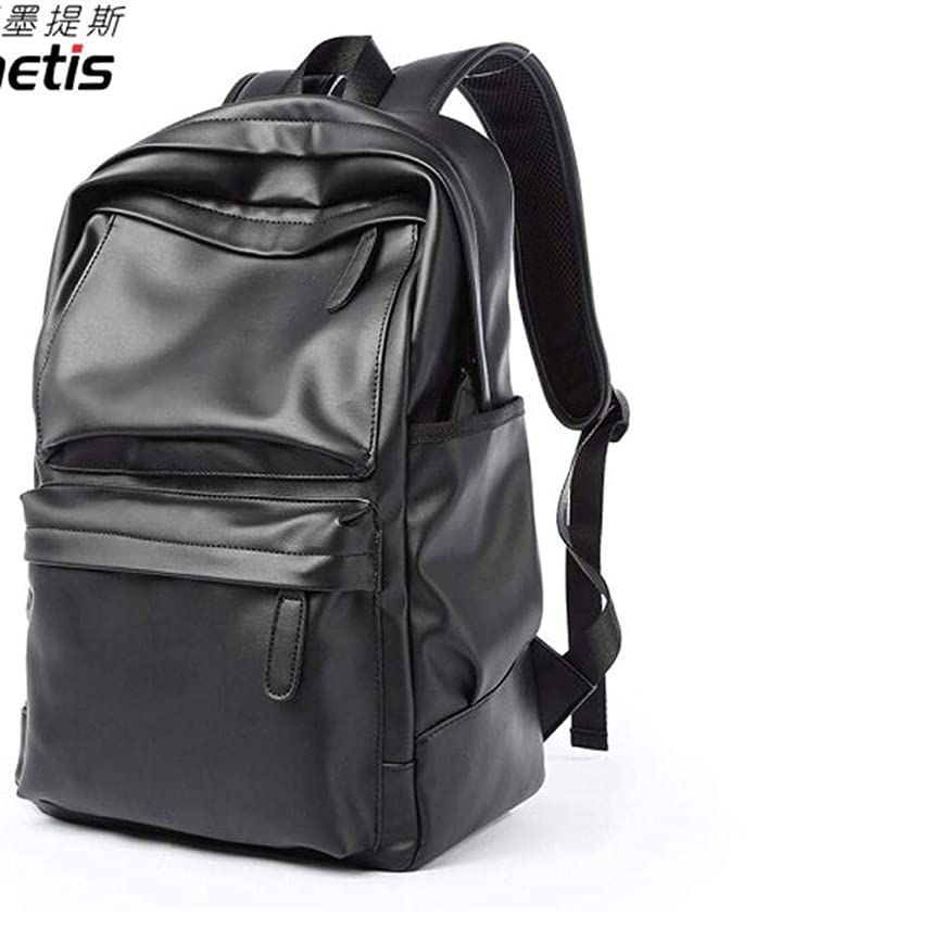 CYCY Korean Version of The Backpack Men and Women Casual Fashion Laptop Bag Leather high School Student Bag