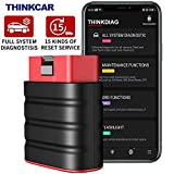 ThinkDriver Bluetooth Code Reader - Professional Full System Automotive Scan Tool OBD2 Scanner, Diagnostic Tool Car Check Engine with 15 Reset Functions ABS SRS for iOS Android Pad