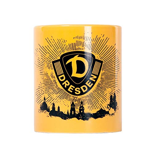 SG Dynamo Dresden Kaffeetasse Strahlen gelb