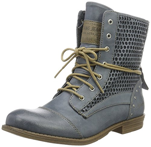 MUSTANG Damen 1157-542-875 Combat Boots, Blau (875 Sky), 42 EU