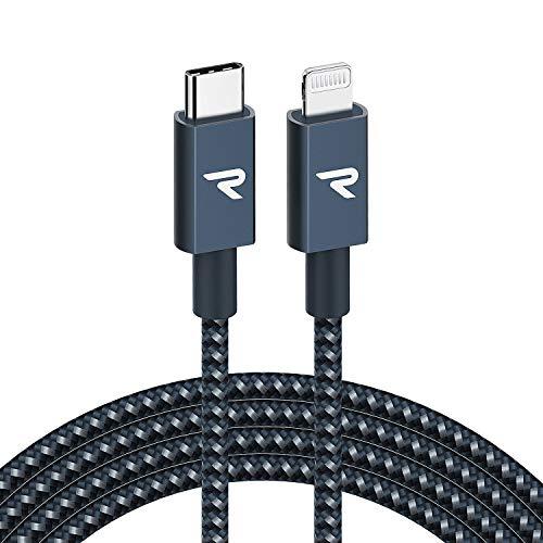 RAMPOW USB C auf Lightning Kabel USB C Lightning KabelMFi Zertifiziert und PD Schnellaufladung USB C auf Lightning Kabel kompatibel mit iPhone 8XXSXR1112 iPad und mehr 2M Marineblau