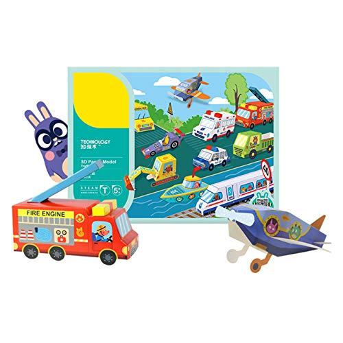 Buhui Kit de 10 piezas de papel 3D para manualidades de arte y manualidades de papel plegable para niños pequeños manualidades de arte juguetes de papel placa de arte kit de arte