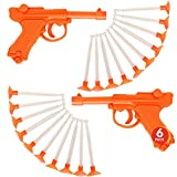 ArtCreativity Detective Dart Gun, Set of 6, Cool Dart Shooter Toys for Kids, Each Set with 1 Pistol and 6 Suction Cup Darts, Fun Toys for Outdoors, Indoors, Yard, Party Favors for Boys and Girls