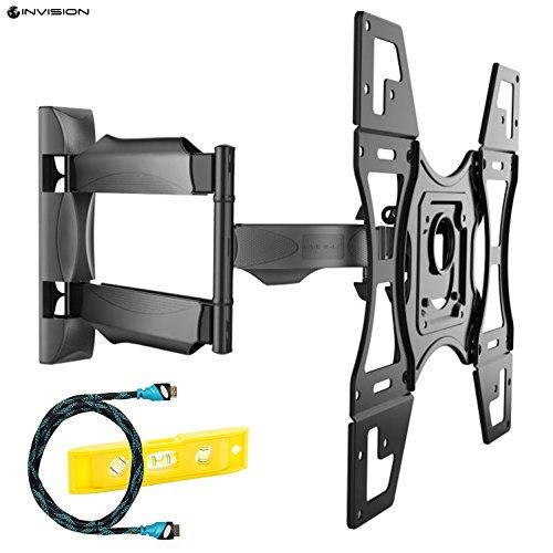 Invision TV Wandhalterung Ultra Schlank Neigung Schwenkbar für die Meisten 26-60 Zoll LED LCD Plasma 3D 4K Bildschirme, Max VESA 400x400mm (HDTV-L)
