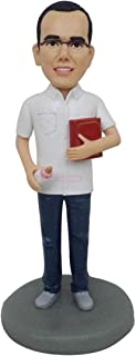 ooak bambola di argilla polimerica fatto a mano carino bambola di piume faccia Q testa statua figurina cake topper capodan...