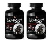 Testosterone Supplements for Men Over 40 - Unleash Your Wolf - Male Enhancement - Size UP - L-arginine tongkat ali - 2 Bottles 120 Capsules