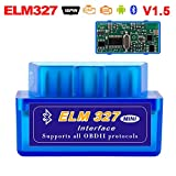 Elm327 Car Code Reader Scan Tools OBD2 Car Diagnostic Bluetooth Scanner Automotive Engine Fault Auto for Android Devices for Android Windows for 1996 and Newer Gas Vehicles