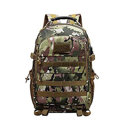 Kaday JOTHIN Taktischer Rucksack Herren Sport Backpack Outdoor Tagesrucksack Wasserdicht Armyrucksack Oxford-Tuch Rucksäcke mit USB für Survival Militär (40L)(Schwarz) (Tarnung)
