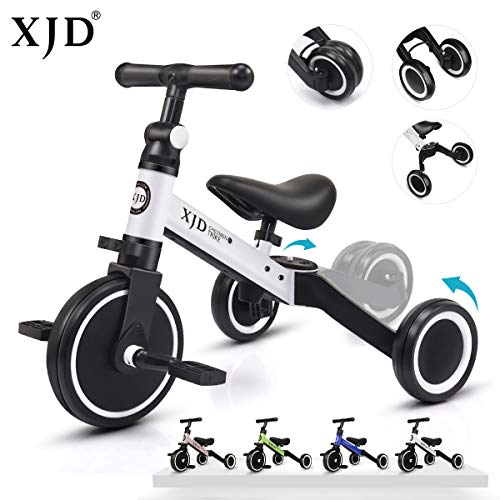 Save %13 Now! XJD 3 in 1 Kids Tricycles for 1-3 Years Old Kids Trike 3 Wheel Toddler Bike Boys Girls...