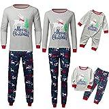 Sanahy Set Nachtwäsche Pyjamas Weihnachten Family Christmas Pyjama Langarm Top Hosen Damen Herren Nachtwäsche Nachtwäsche Homewear