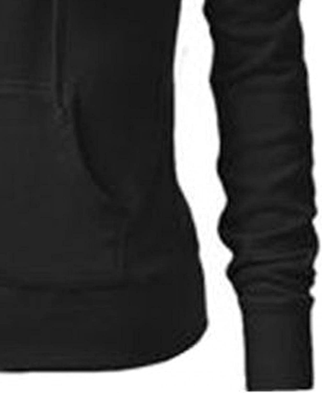 Zhenlik Zip up Hoodie Women Oversized Sweatshirt, Ladies Casual Plus Size Hooded Sweatshirt Coat Jacket with Pockets
