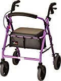 NOVA Medical Products Zoom Rollator Walker with 22' Seat Height, Purple