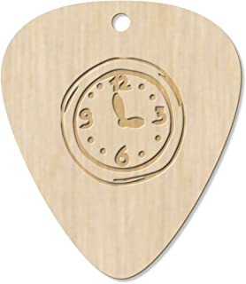 7 x 'Wall Clock' Guitar Picks / Pendants (GP00015139)