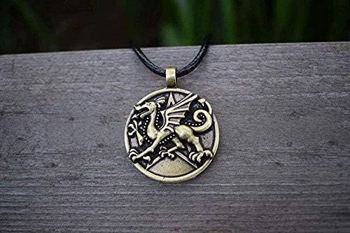 ZJJLWL Co.,ltd Necklace 1Pcs Antique Silver Plated Medieval Jewelry Renaissance Gothic Dragon Necklace Norse Gothic Necklace Dragon Gifts