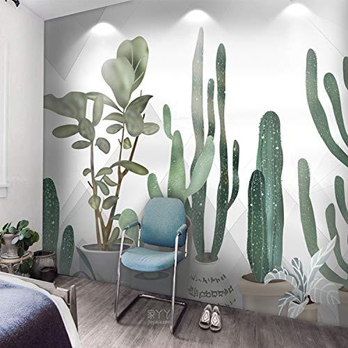 Fototapete Tapete Wanddeko Home Decor-Ins Handgemalte Kaktus Wohnzimmer Sofa Schlafzimmer Esszimmer Tv Hintergrund Wand Nahtlose Tapete Tapete Benutzerdefinierte Wandbild 150Cm X 105Cm (59.1 Von 41.3