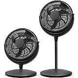 Brentwood Kool Zone High Velocity Air Circulator Fan, 2in1 3-Speed 12-inch, Black