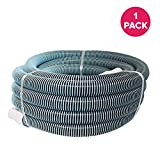 Think Crucial Replacement Pool Hose Parts Compatible with All Pool Hoses - 1/2' x 40' Heavy Duty Swimming Pool Hose - Pair with Part 33440 and Manual Heads - Bulk, 1 Pack