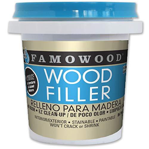 FamoWood 40042144 Latex Wood Filler - 1/4 Pint, White