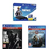 Pack PlayStation : PS4 Slim 500 Go Noire + The Last Of Us PlayStation Hits + God Of War PlayStation Hits