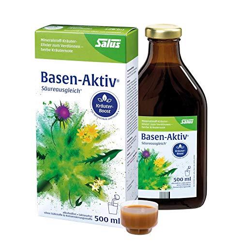 Salus Basen-Aktiv Mineralstoff-Kräuter-Elixier zum Verdünnen – Nahrungsergänzungsmittel ohne Konservierungsstoffe, vegan – 1 x 500 ml = ca. 16 Tagesdosen