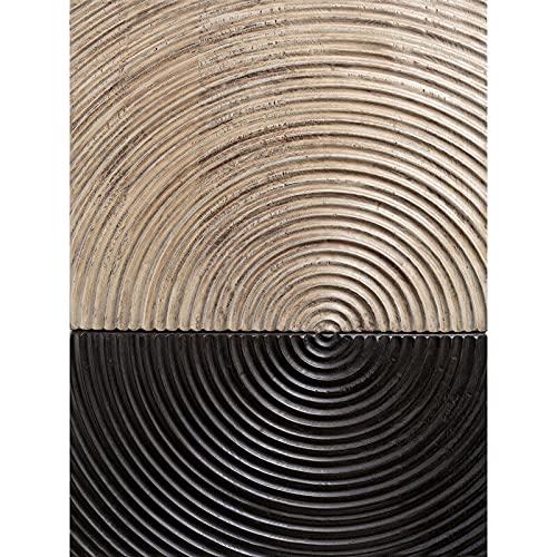 JXMK Tinta Negra Anillo Anual Lienzo de Arte Abstracto Cartel nórdico Mural decoración Simple Sala de Estar hogar 40x50 cm sin Marco