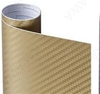 new 3D Carbon Fiber Vinyl Black Multiple Size Car Wrap Sheet Roll Film Sticker Automobile Styling Decals (Color Name : Gol...