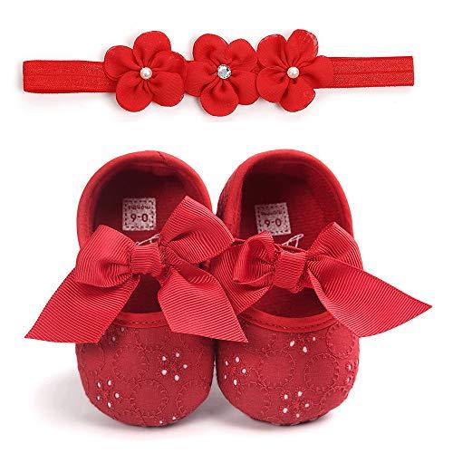 Unisex Neugeborenen Baby Schuhe, Sunday Säugling Mädchen Jungen Krabbelschuhe Herbst Krippeschuhe Turnschuhe rutschfest Ballerinas Taufschuhe Baby Geschenk 0-18 Monate