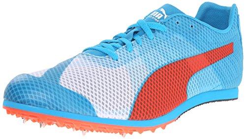 PUMA Men's Evospeed Star 4 Sneaker, White/Atomic Blue/Red Blast, 11 D US